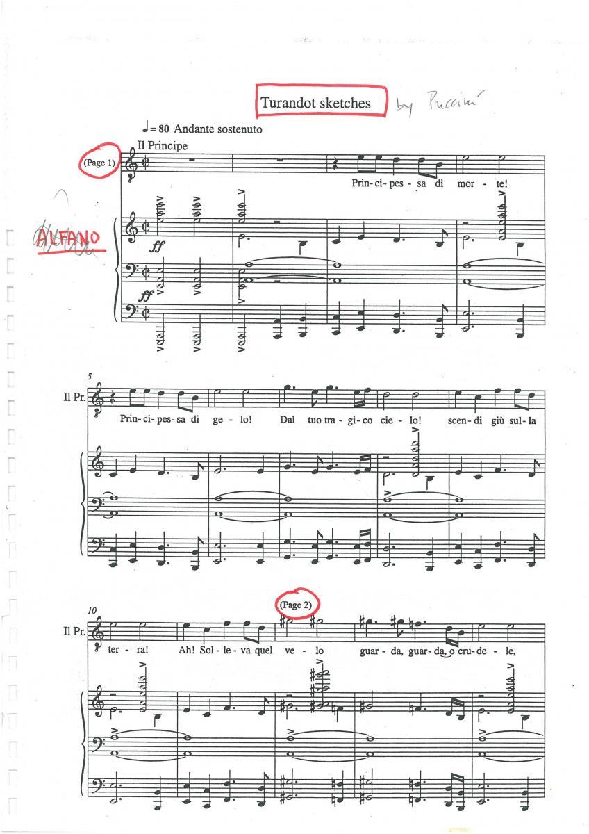 partitura turandot